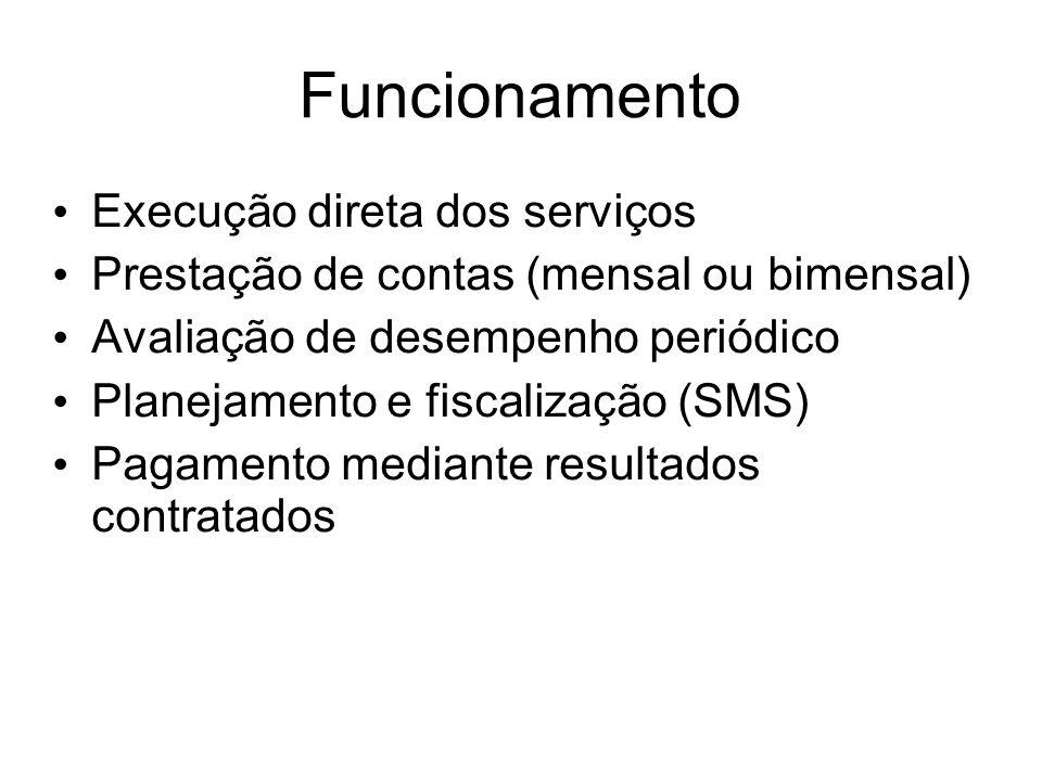 Funcionamento Execução direta dos serviços