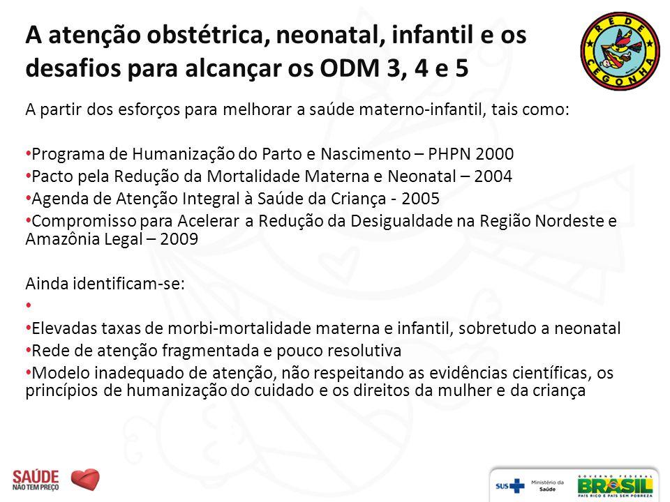 A atenção obstétrica, neonatal, infantil e os desafios para alcançar os ODM 3, 4 e 5