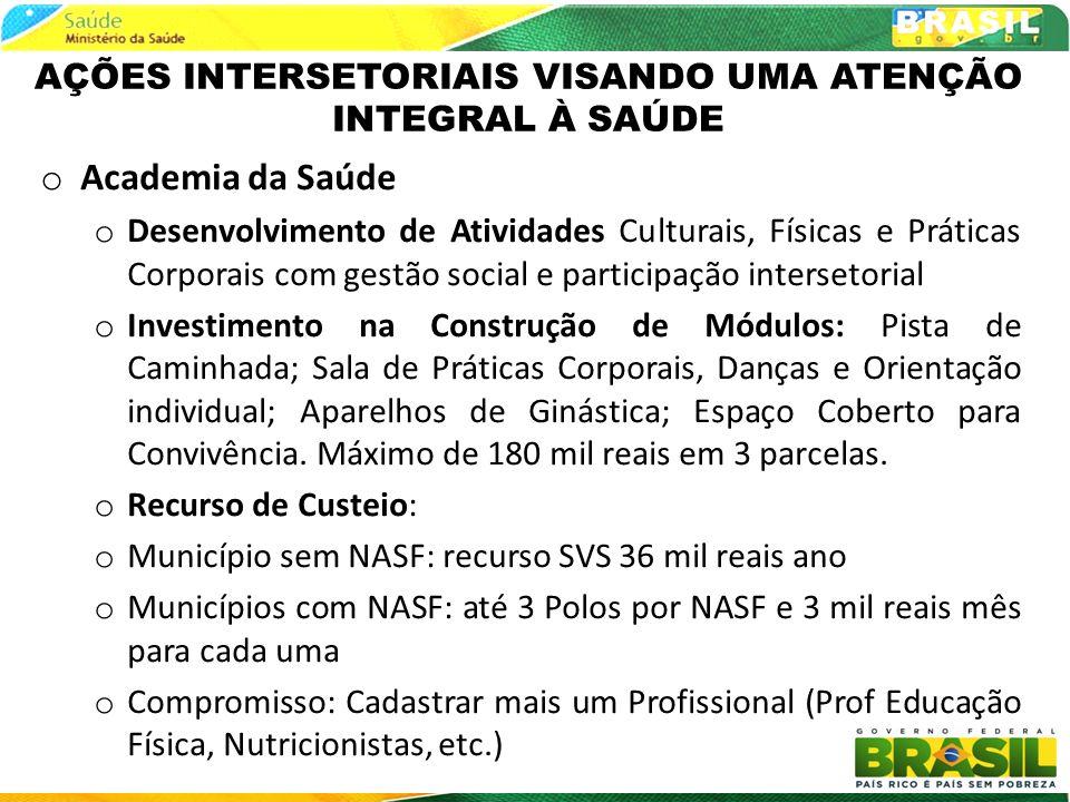 AÇÕES INTERSETORIAIS VISANDO UMA ATENÇÃO INTEGRAL À SAÚDE