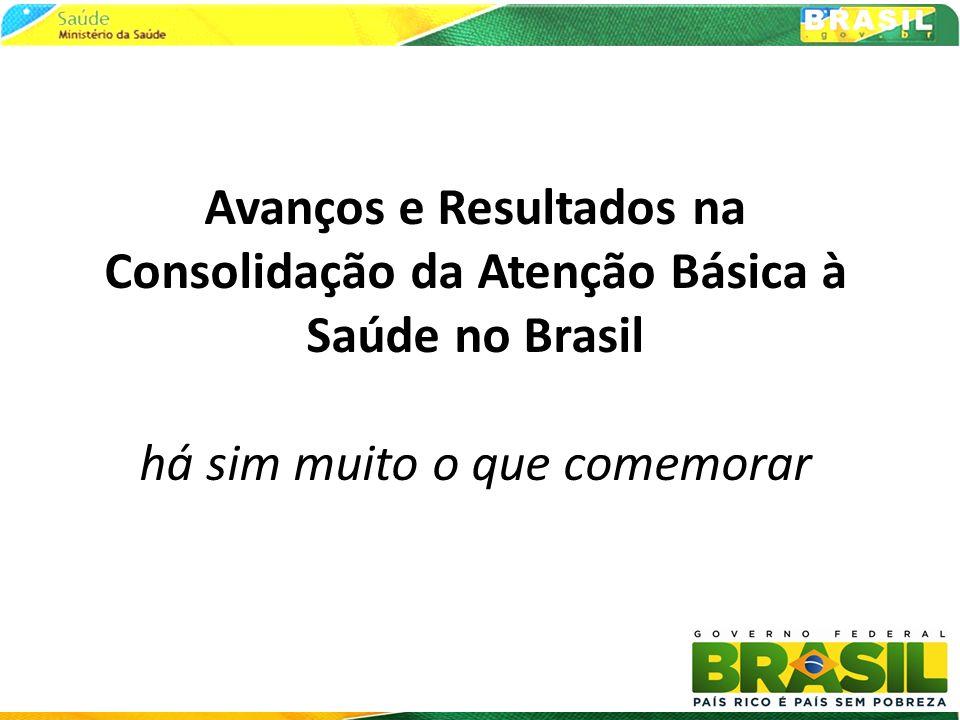 Avanços e Resultados na Consolidação da Atenção Básica à Saúde no Brasil há sim muito o que comemorar