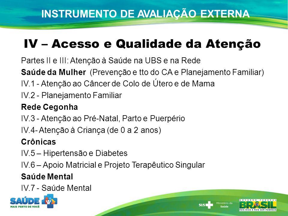 INSTRUMENTO DE AVALIAÇÃO EXTERNA