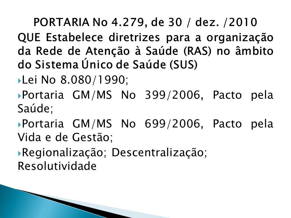 PORTARIA No 4.279, de 30 / dez. /2010