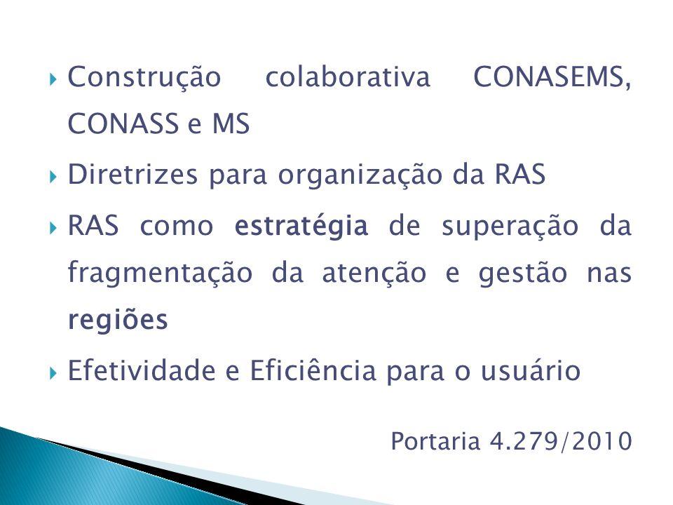 Construção colaborativa CONASEMS, CONASS e MS