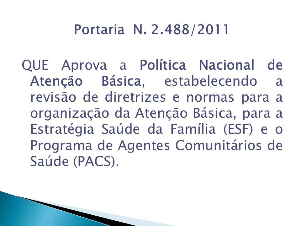 Portaria N. 2.488/2011