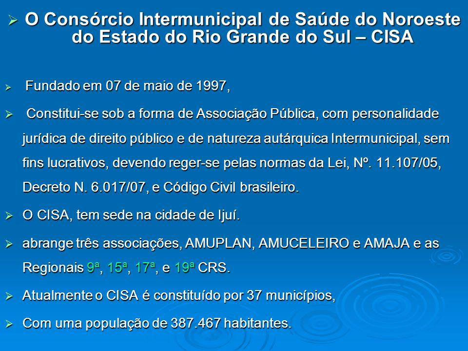 O Consórcio Intermunicipal de Saúde do Noroeste do Estado do Rio Grande do Sul – CISA