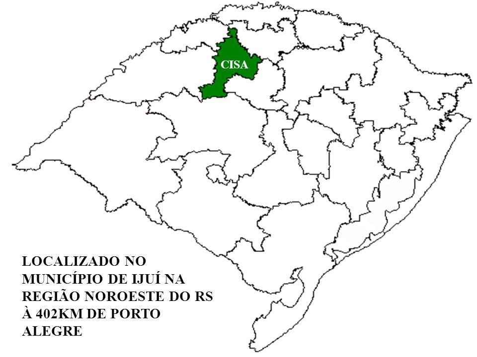 LOCALIZADO NO MUNICÍPIO DE IJUÍ NA REGIÃO NOROESTE DO RS