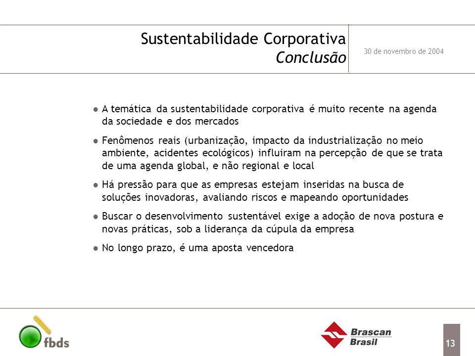 Sustentabilidade Corporativa Conclusão