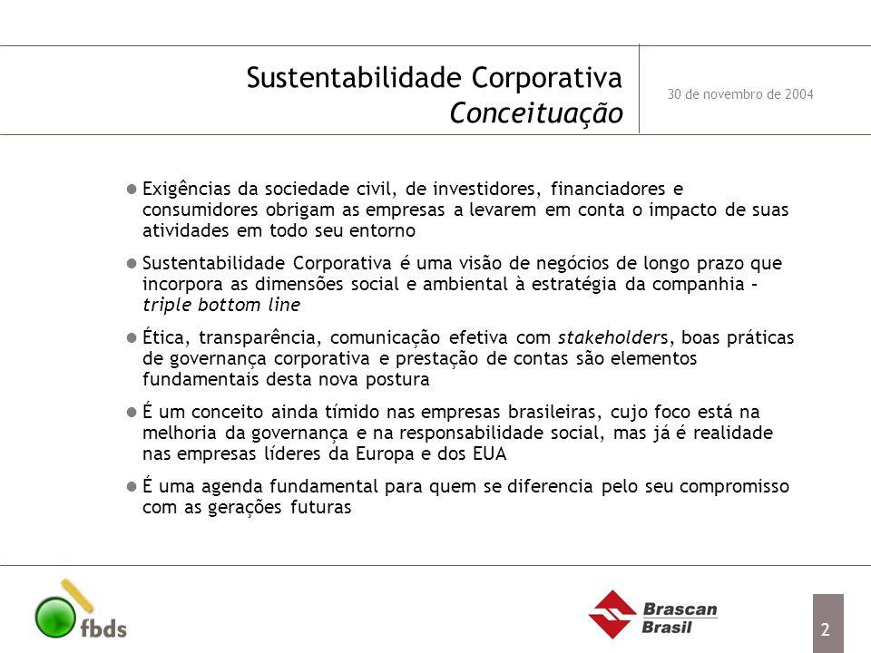 Sustentabilidade Corporativa Conceituação