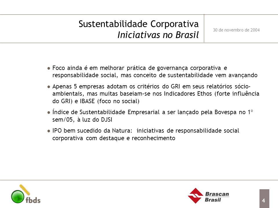 Sustentabilidade Corporativa Iniciativas no Brasil