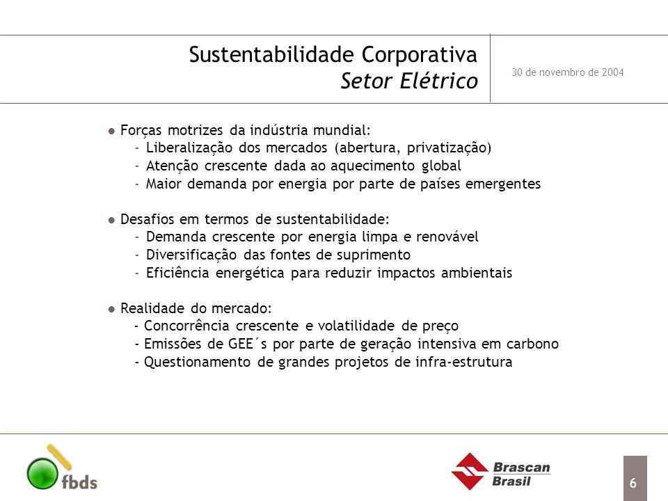 Sustentabilidade Corporativa Setor Elétrico