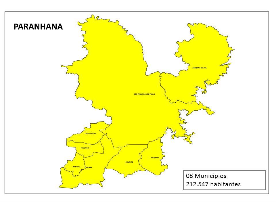 PARANHANA 08 Municípios 212.547 habitantes