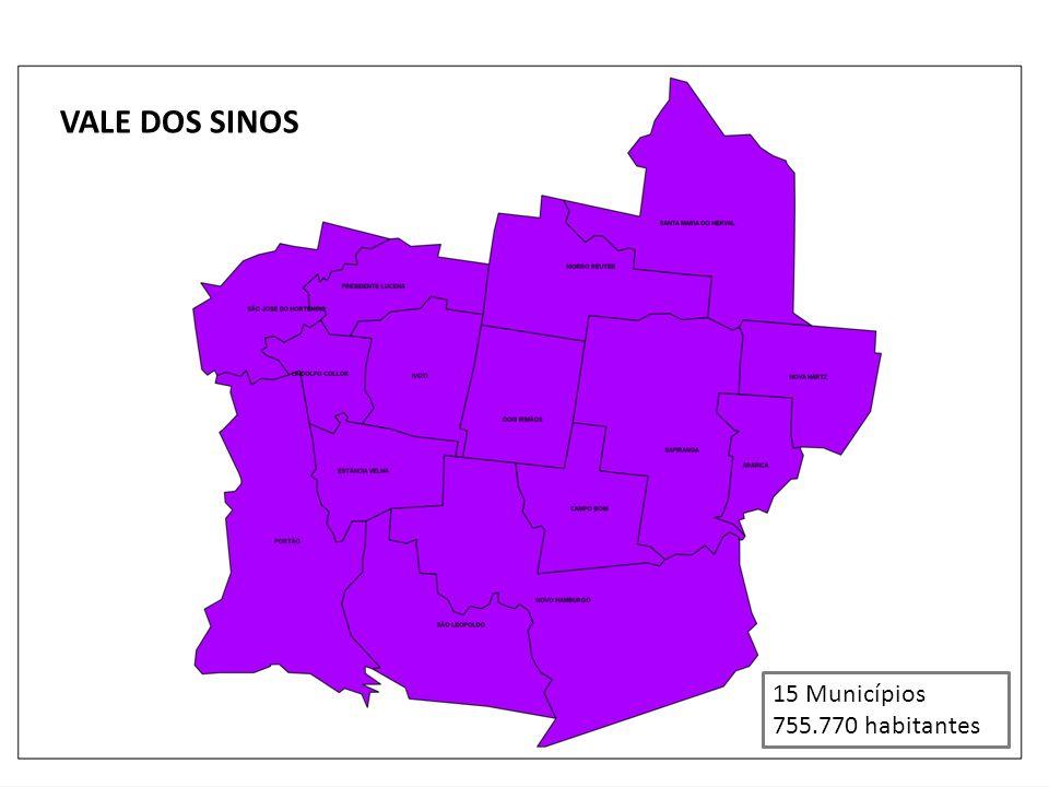 VALE DOS SINOS 15 Municípios 755.770 habitantes