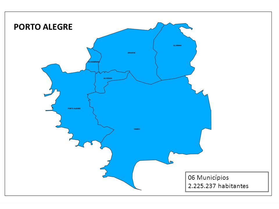 PORTO ALEGRE 06 Municípios 2.225.237 habitantes