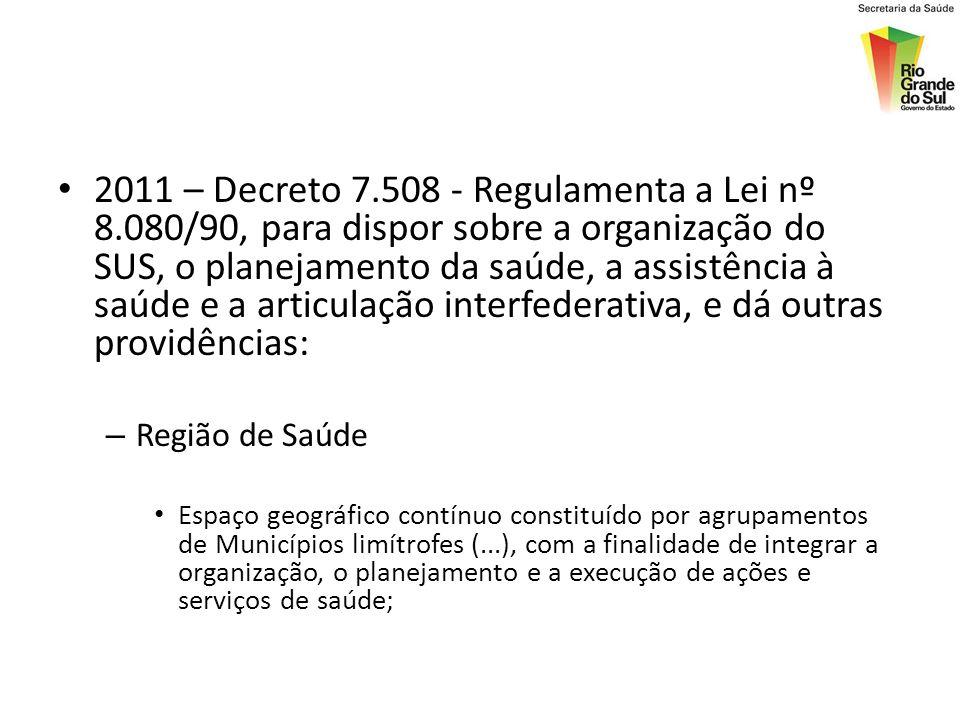 2011 – Decreto 7. 508 - Regulamenta a Lei nº 8
