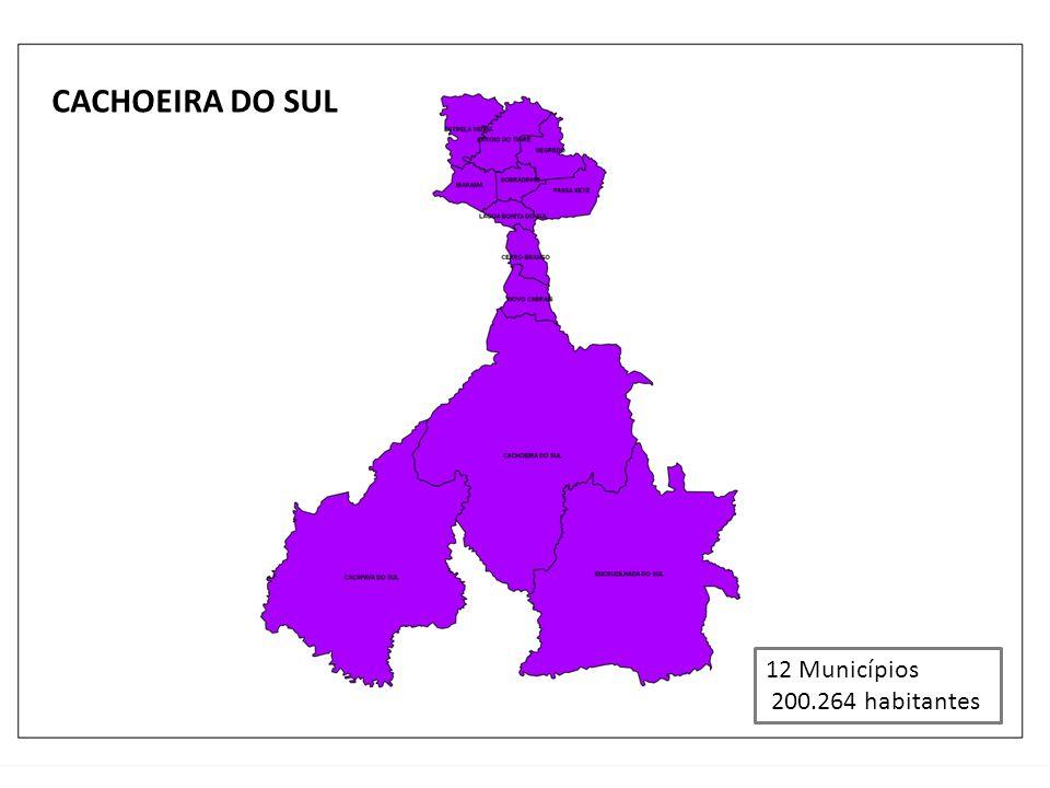 CACHOEIRA DO SUL 12 Municípios 200.264 habitantes
