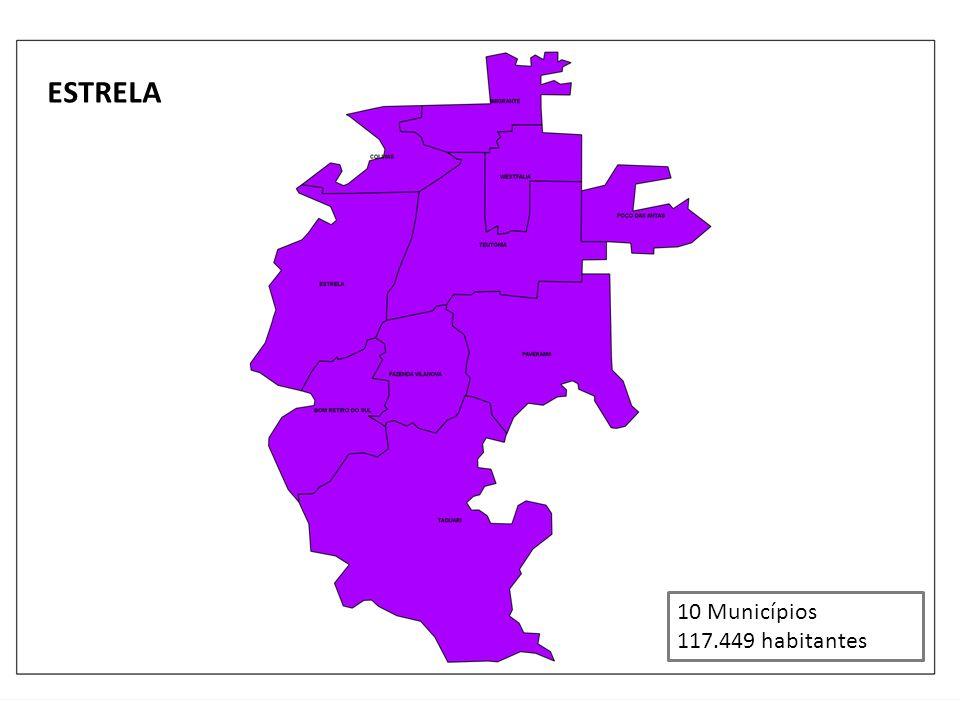 ESTRELA 10 Municípios 117.449 habitantes