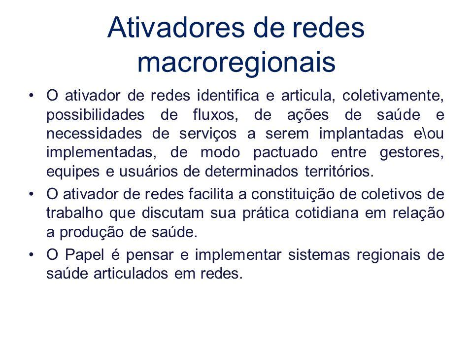 Ativadores de redes macroregionais