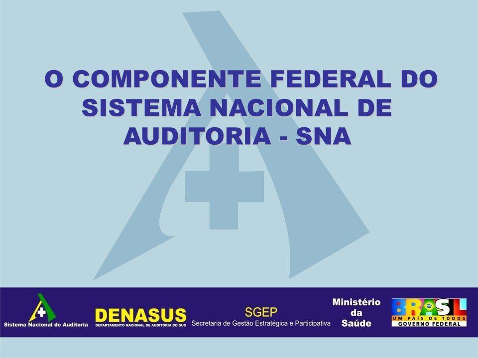 O COMPONENTE FEDERAL DO SISTEMA NACIONAL DE AUDITORIA - SNA