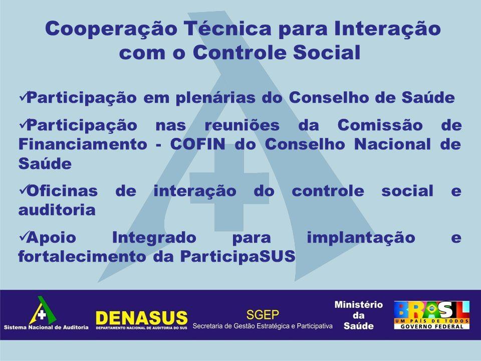 Cooperação Técnica para Interação com o Controle Social