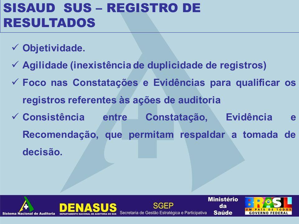 SISAUD SUS – REGISTRO DE RESULTADOS