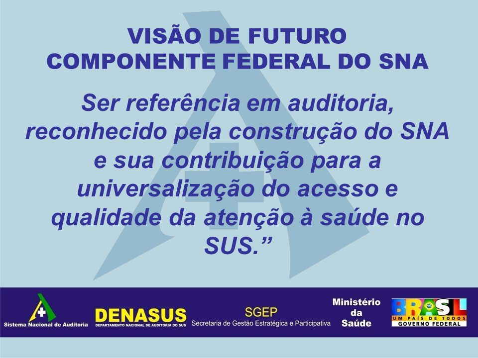 COMPONENTE FEDERAL DO SNA