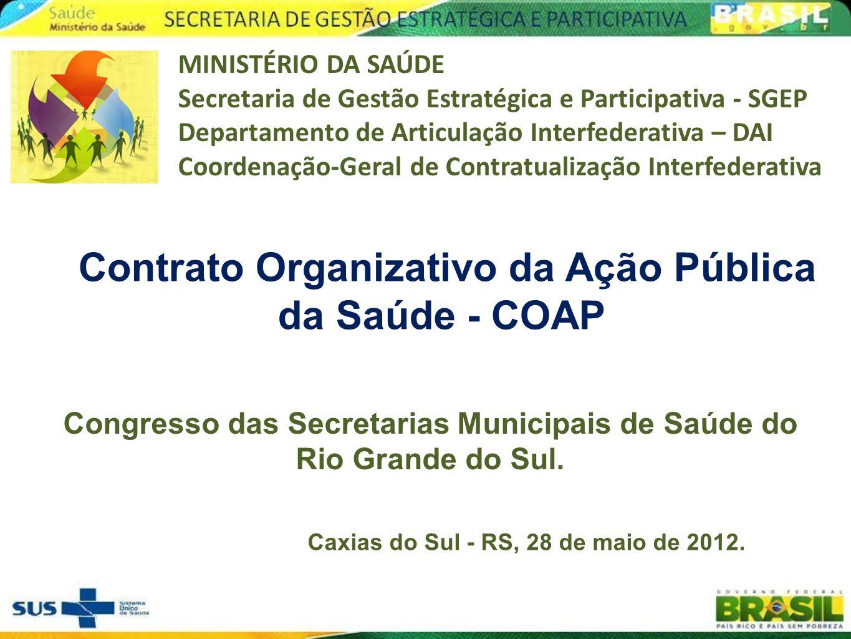 Contrato Organizativo da Ação Pública da Saúde - COAP