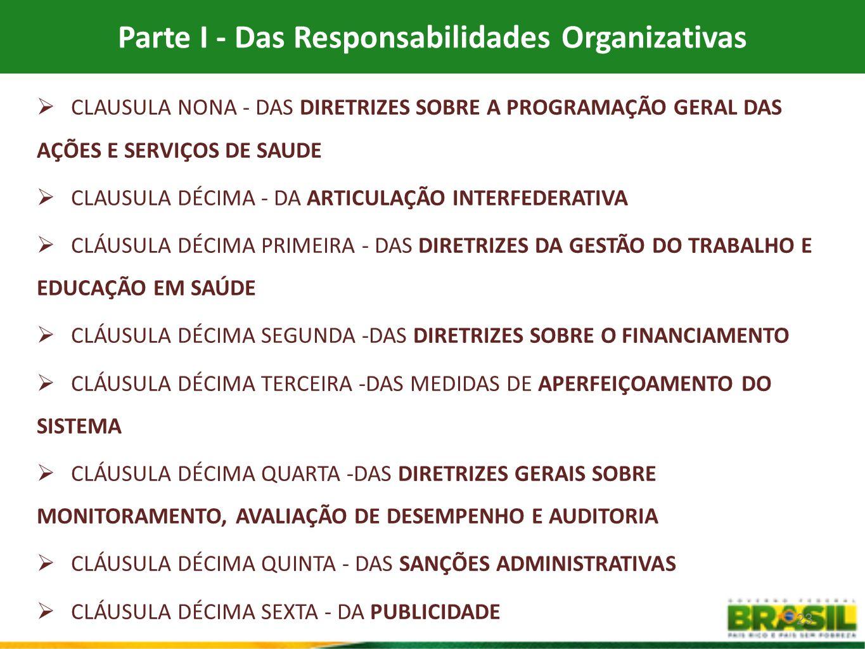 Parte I - Das Responsabilidades Organizativas