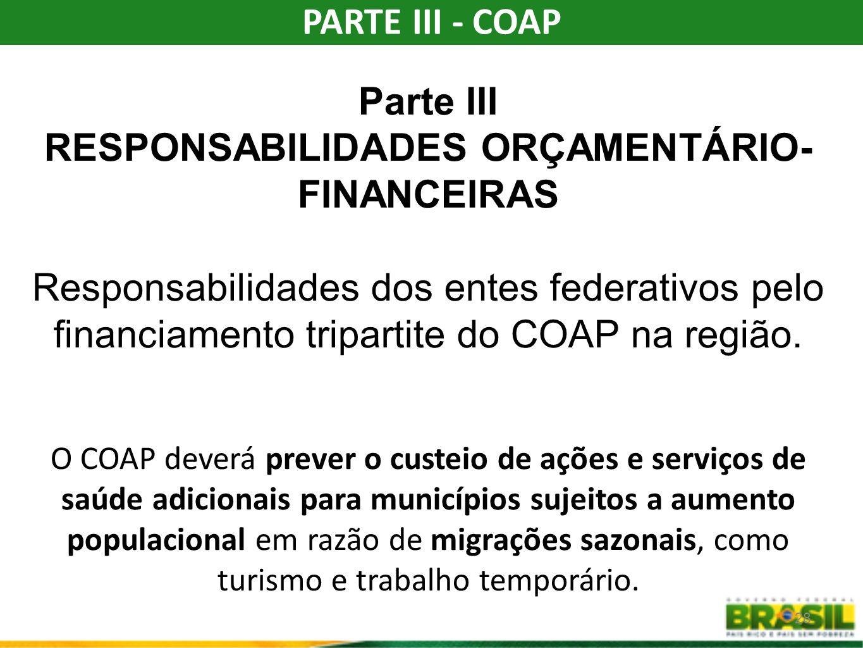 RESPONSABILIDADES ORÇAMENTÁRIO-FINANCEIRAS