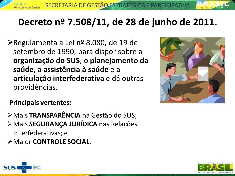 Decreto nº 7.508/11, de 28 de junho de 2011.