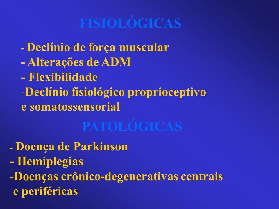FISIOLÓGICAS PATOLÓGICAS - Alterações de ADM - Flexibilidade