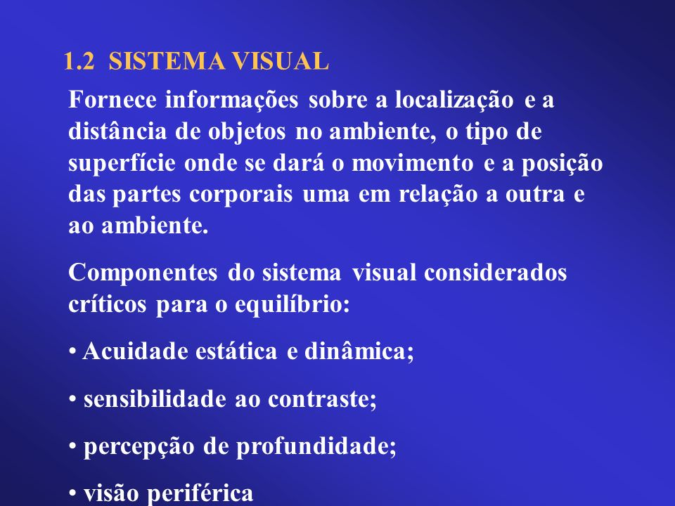 1.2 SISTEMA VISUAL