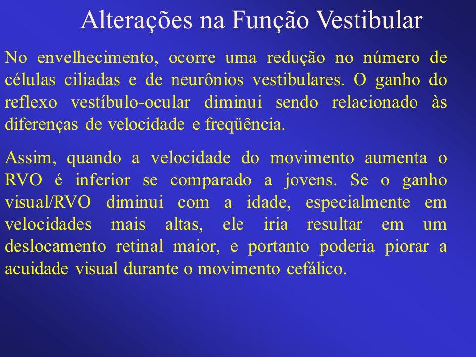 Alterações na Função Vestibular