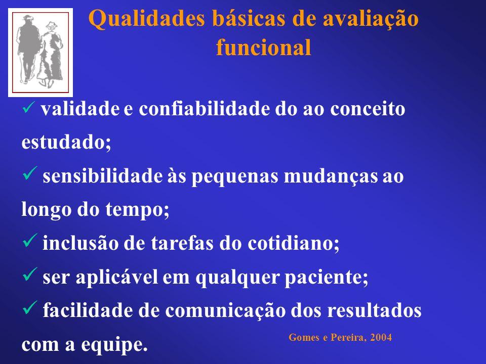 Qualidades básicas de avaliação funcional