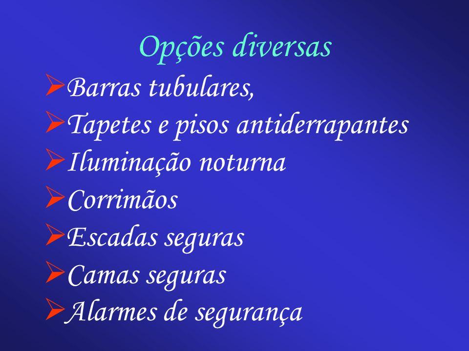Opções diversas Barras tubulares, Tapetes e pisos antiderrapantes