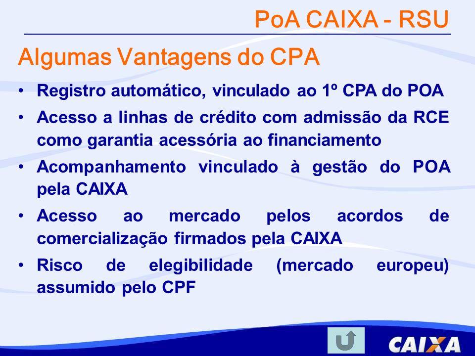 Algumas Vantagens do CPA