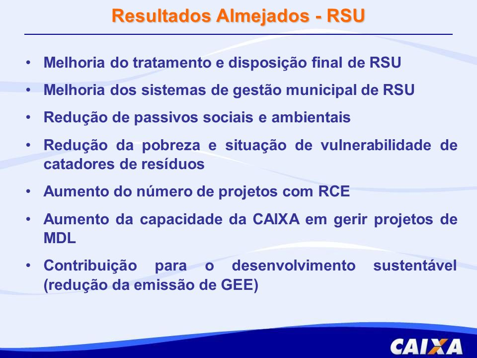 Resultados Almejados - RSU