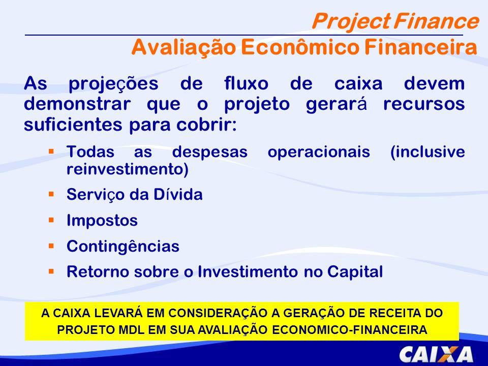 Project Finance Avaliação Econômico Financeira
