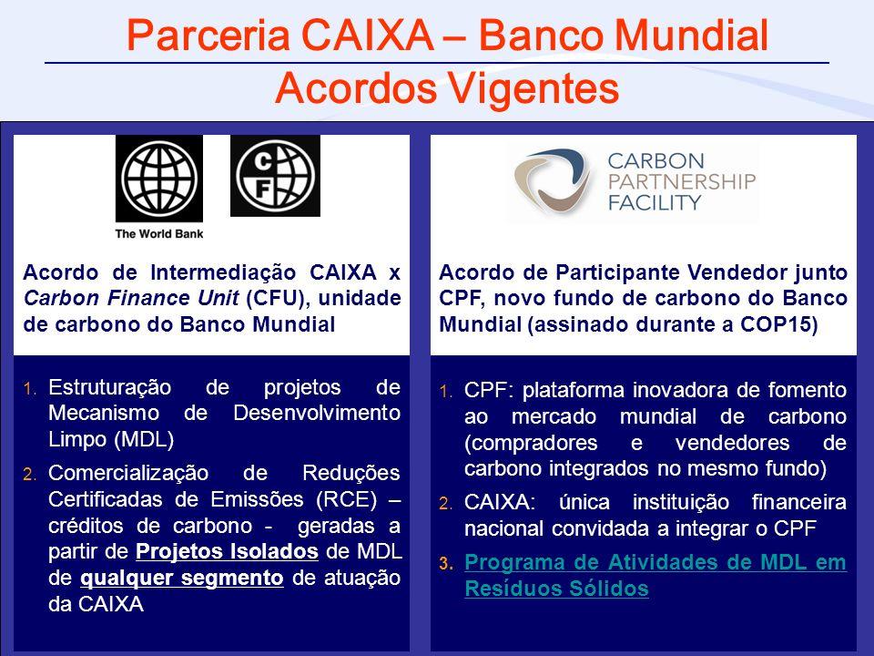 Parceria CAIXA – Banco Mundial