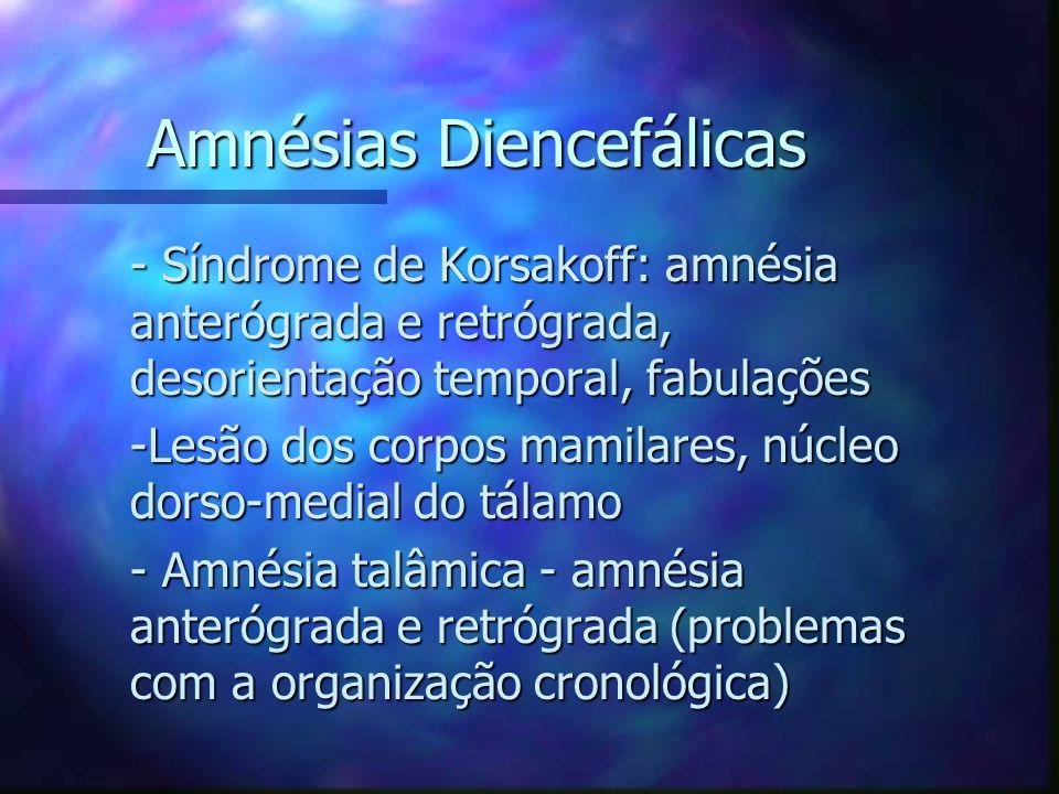 Amnésias Diencefálicas