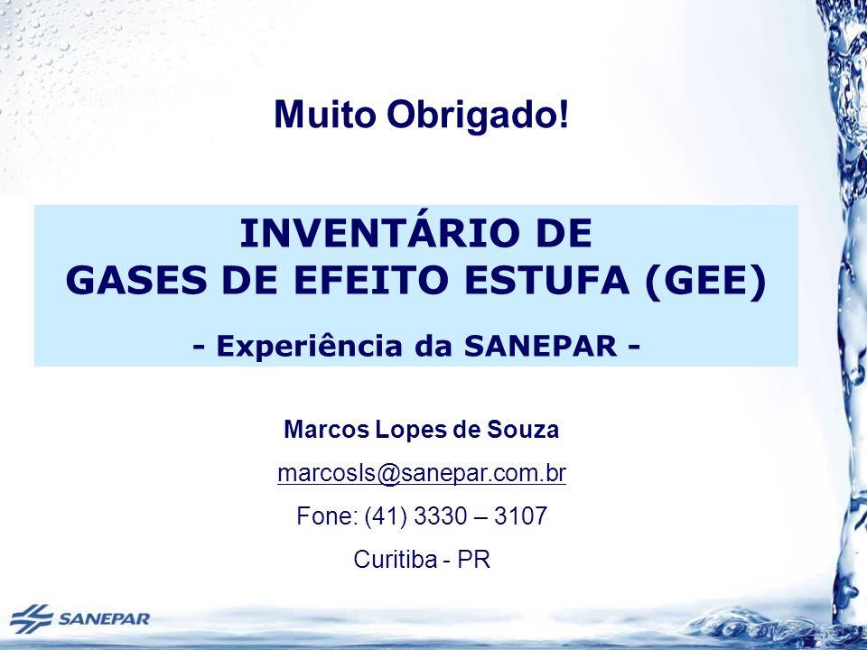 INVENTÁRIO DE GASES DE EFEITO ESTUFA (GEE) - Experiência da SANEPAR -