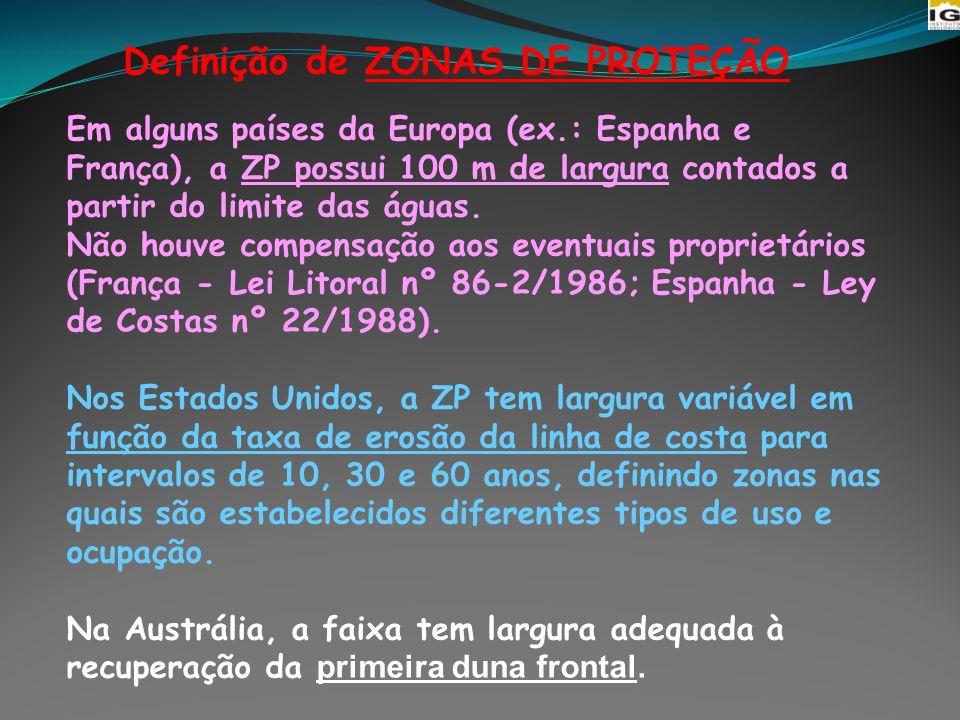 Definição de ZONAS DE PROTEÇÃO