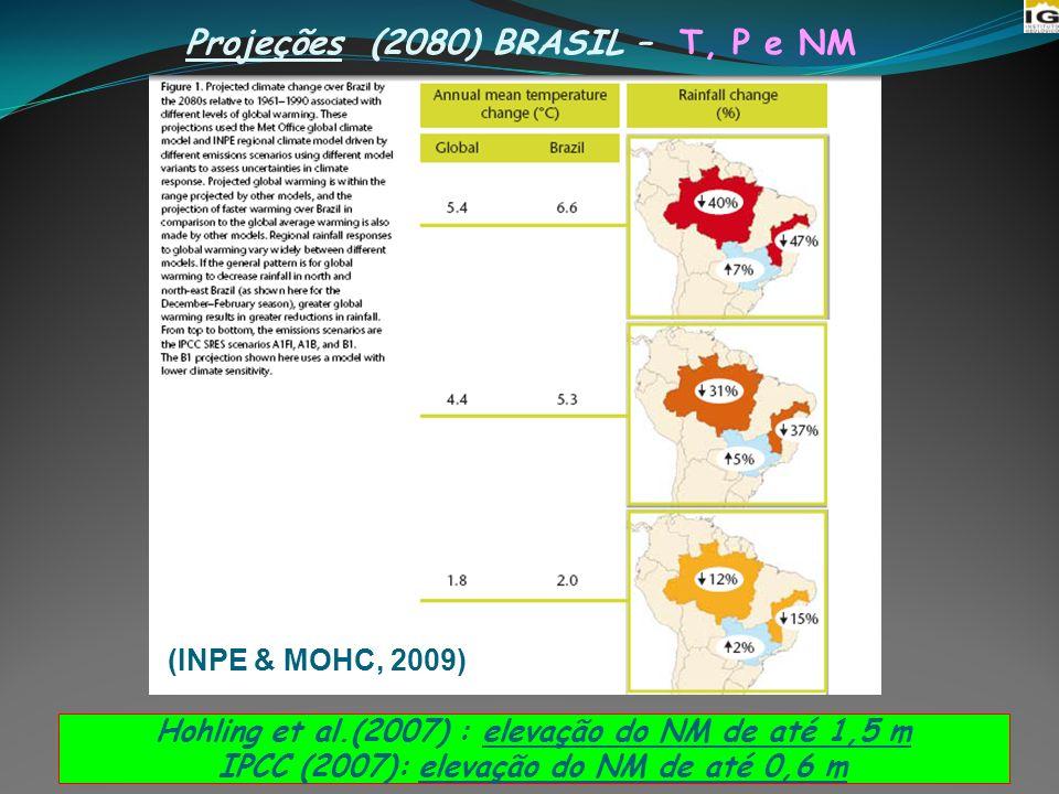 Projeções (2080) BRASIL – T, P e NM