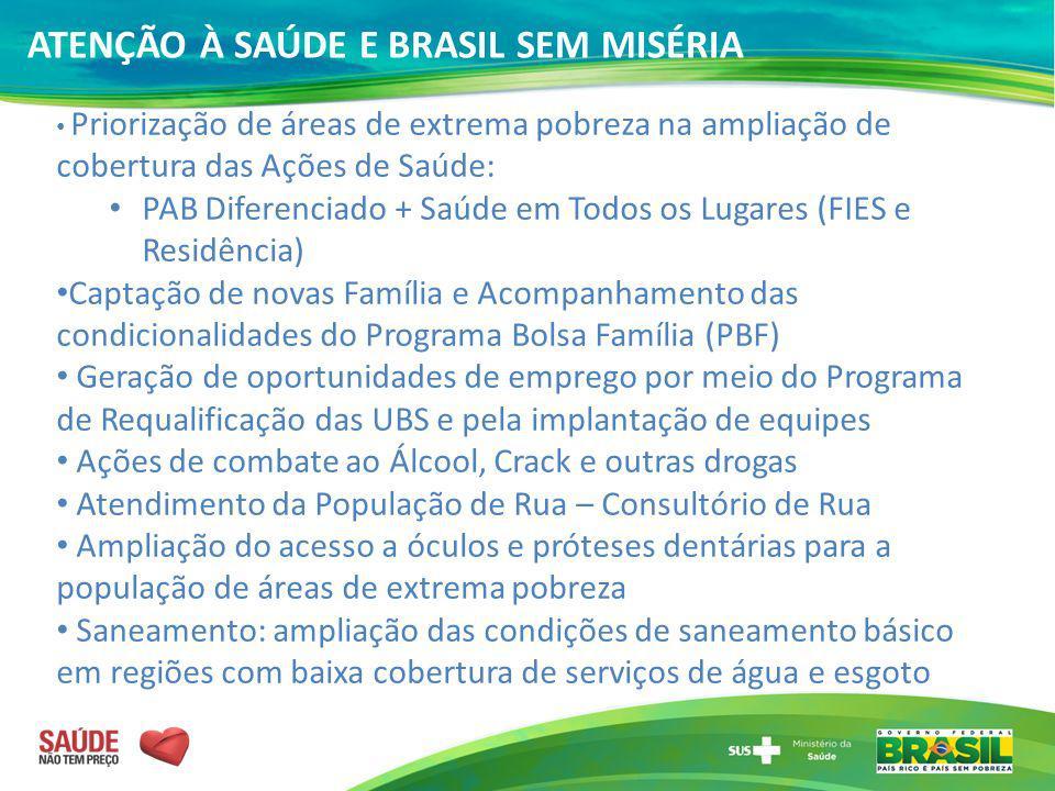 ATENÇÃO À SAÚDE E BRASIL SEM MISÉRIA