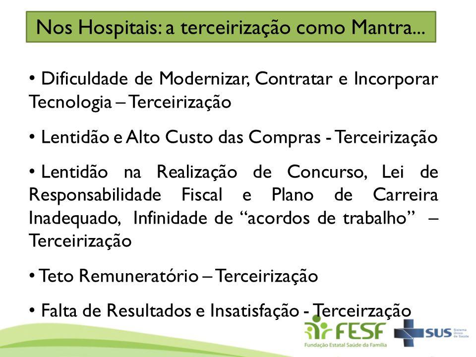 Nos Hospitais: a terceirização como Mantra...