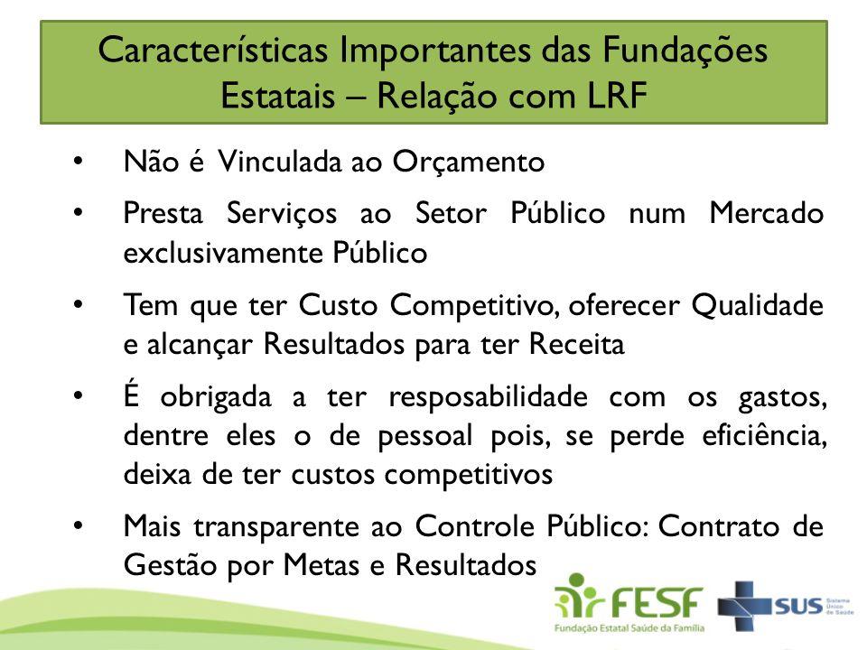 Características Importantes das Fundações Estatais – Relação com LRF