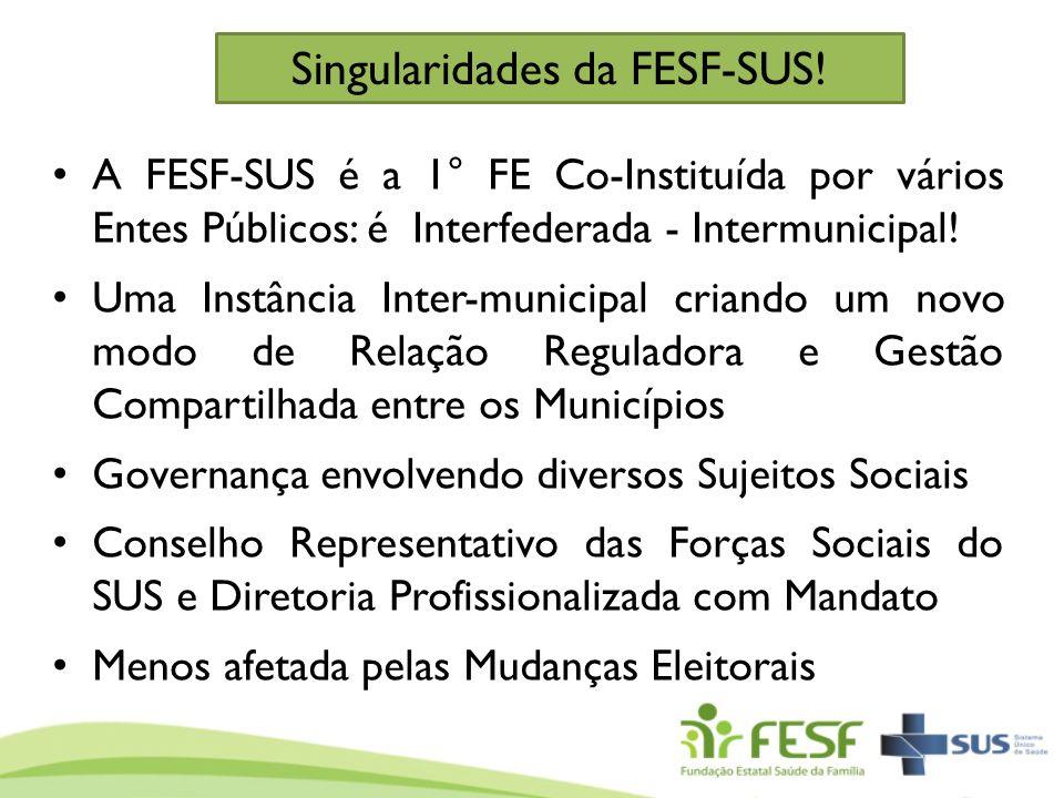 Singularidades da FESF-SUS!
