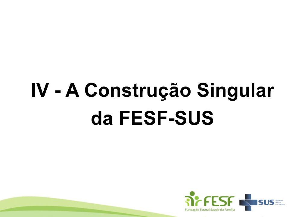 IV - A Construção Singular