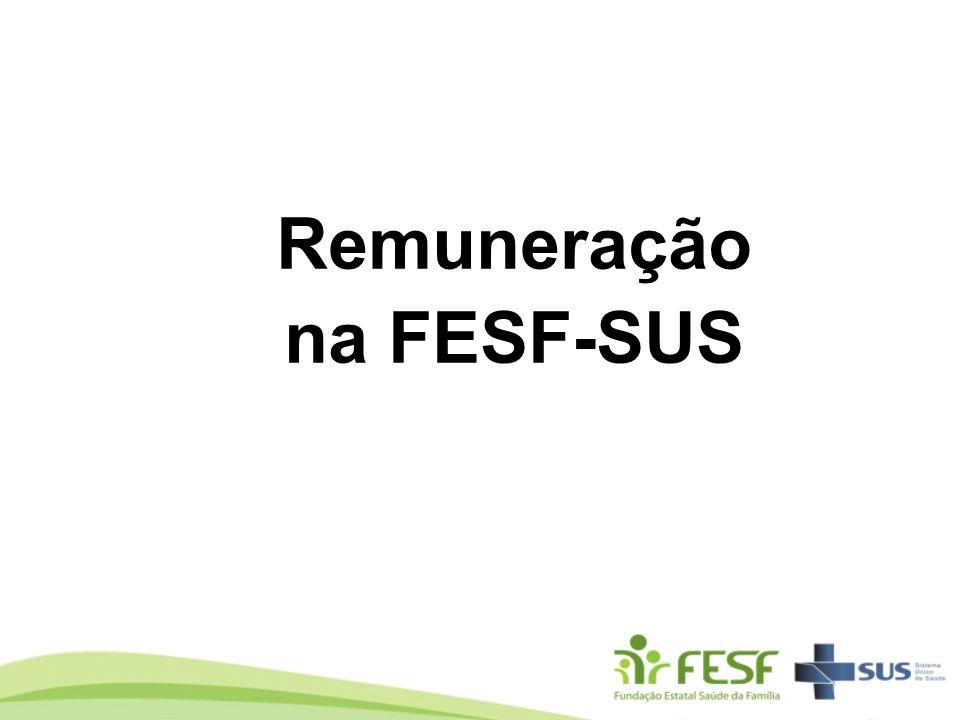 Remuneração na FESF-SUS