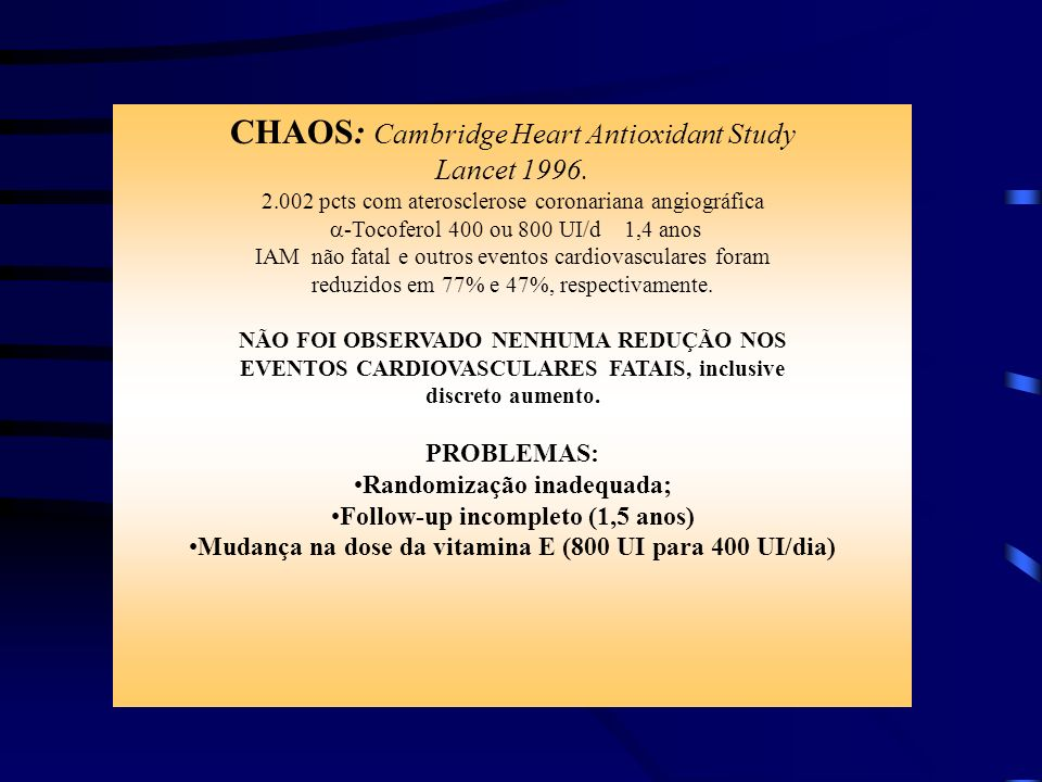 CHAOS: Cambridge Heart Antioxidant Study