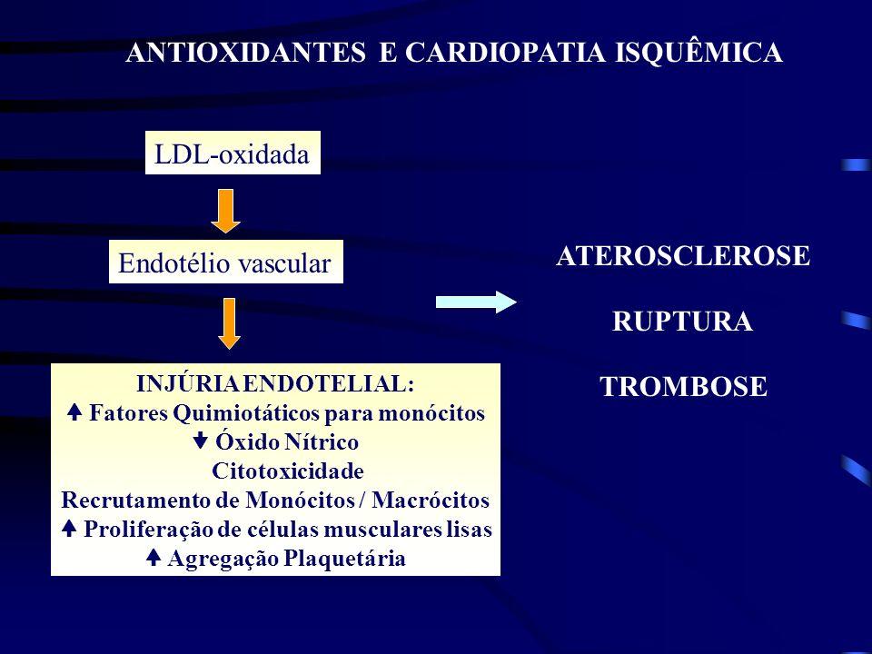 ANTIOXIDANTES E CARDIOPATIA ISQUÊMICA